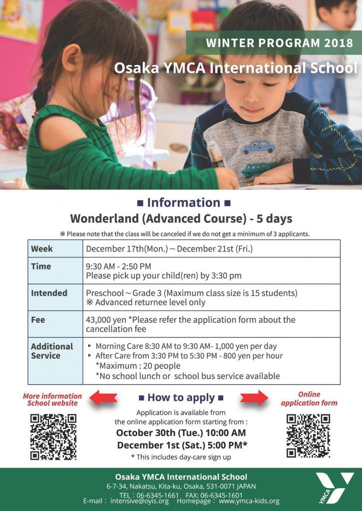 Winter Wonderland and Intensive Programmes
