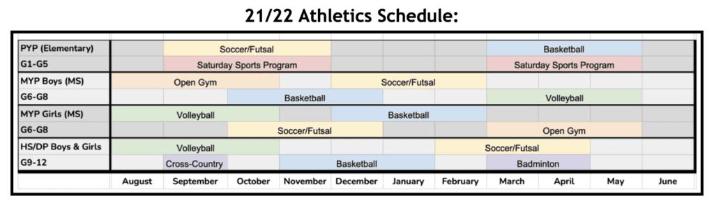 21-22 Athletics Schedule