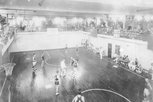 Basketball, started by Nay Smith of the YMCA, was introduced to the Osaka Young Men's Christian Association - 1916
